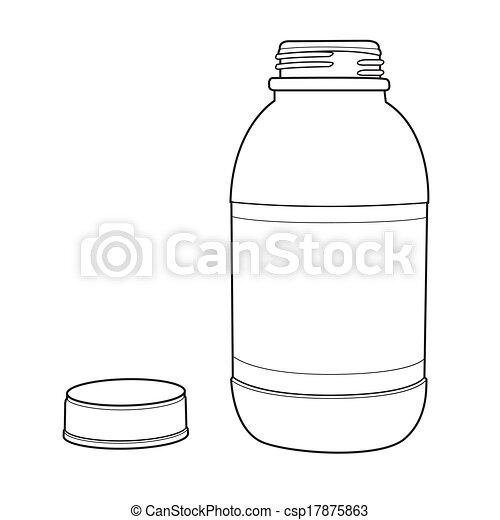 Motor Oil Red Plastic Bottle Out Li 17875863