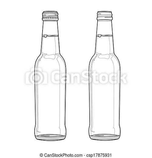 Vectors of soda bottle out line vector - image of soda ...