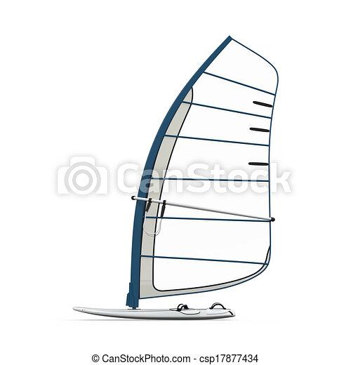 dessins de planche voile isol sur blanc fond 3d render csp17877434 recherchez des. Black Bedroom Furniture Sets. Home Design Ideas