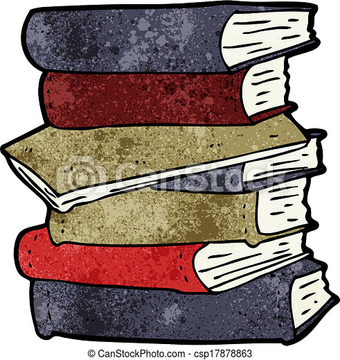 Books Cartoon Photos Cartoon Pile of Books