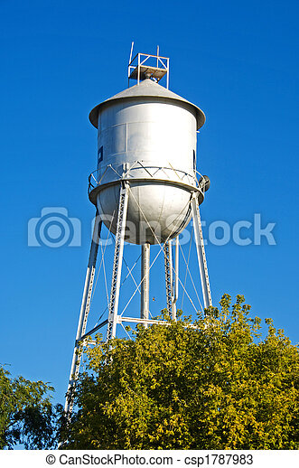 Old-fashioned water tower - csp1787983