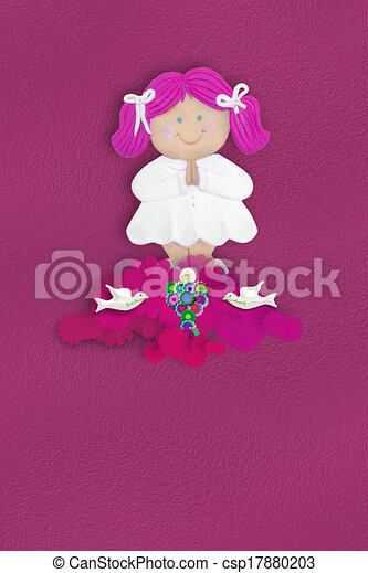 Communion girl Religion - csp17880203