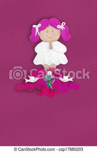 Communion girl Religion - csp17880203