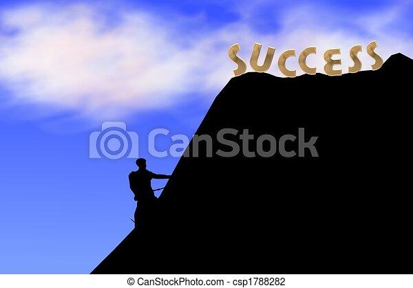 climb the hill of success - csp1788282