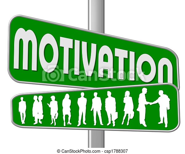 road sign green motivation - csp1788307