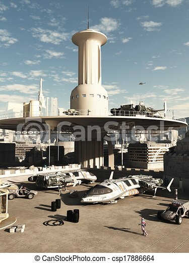 Future City Spaceport - csp17886664