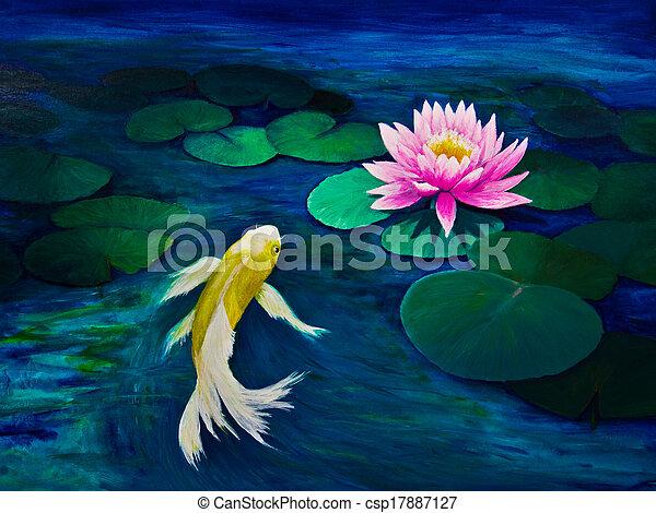 Photo de jaune papillon koi rose eau lis a jaune for Koi papillon