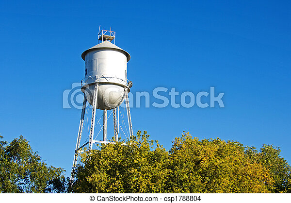 Old-fashioned water tower - csp1788804