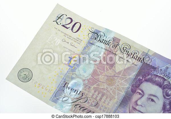 Twenty pound note detail - csp17888103