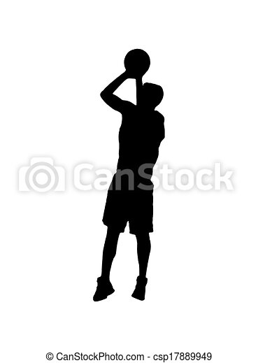 Joueur, Blanc, Basket-Ball, Tir - Royalty Free Stock ...