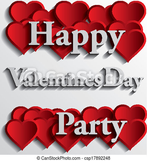 Eps Vector Of Happy Valentines Day Party Love Is In The