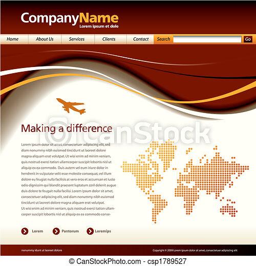 vector website template - csp1789527