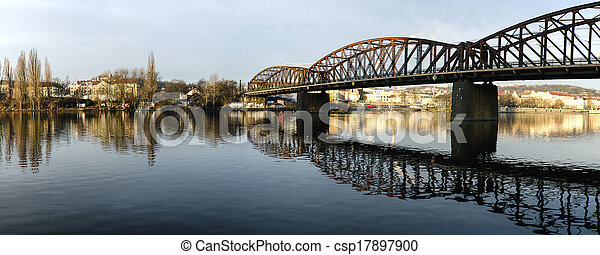 Panorama of bridges on the Vltava - csp17897900