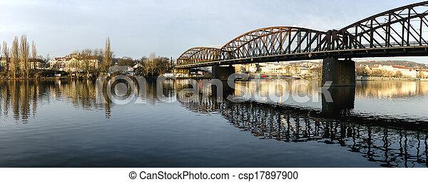 Panorama of bridges on the Vltava - csp17897900