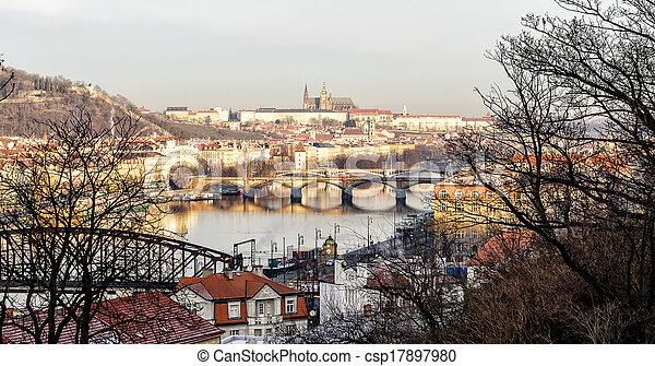 bridges on the Vltava - csp17897980