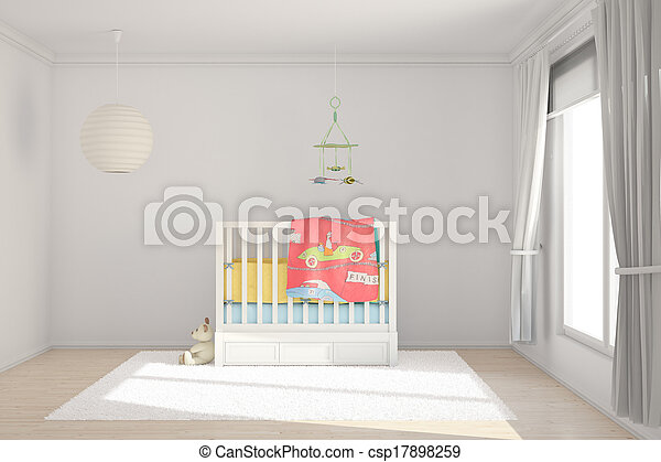 Children room with toys - csp17898259