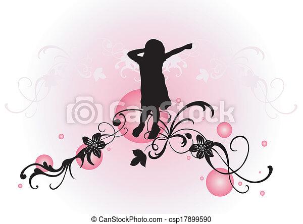 Female silhouette - csp17899590