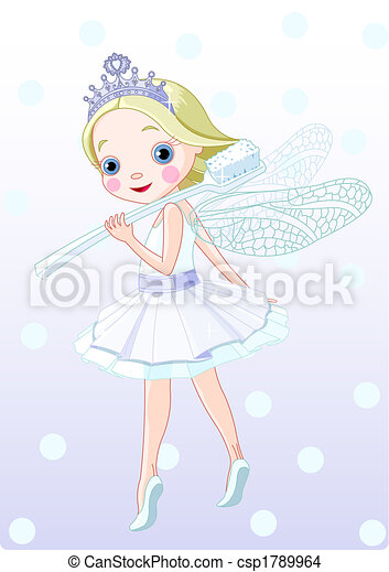 toothfairy with toothbrush - csp1789964