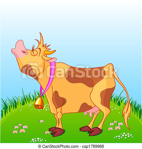 Cartoon Cow - csp1789968