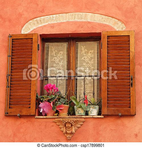 Stock foto reizend fenster engelhaft d cor blumen for Fenster 800x800