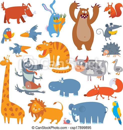 Cute zoo animals - csp17899895