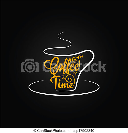 coffee cup sign design background - csp17902340