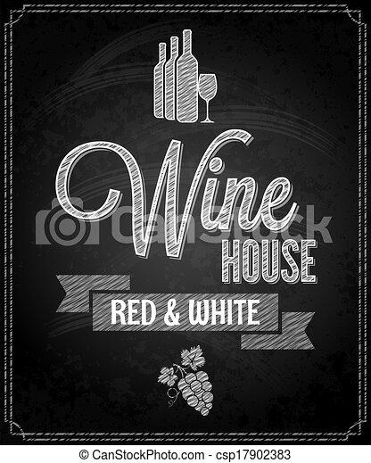 Vector of wine menu design chalkboard background for Wine chalkboard art