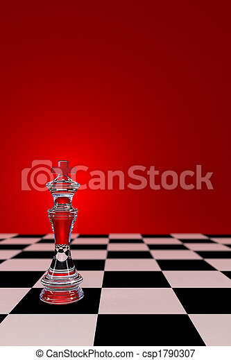 Glass Chess King - csp1790307