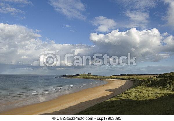 Dunstanburgh and Embleton Bay - csp17903895