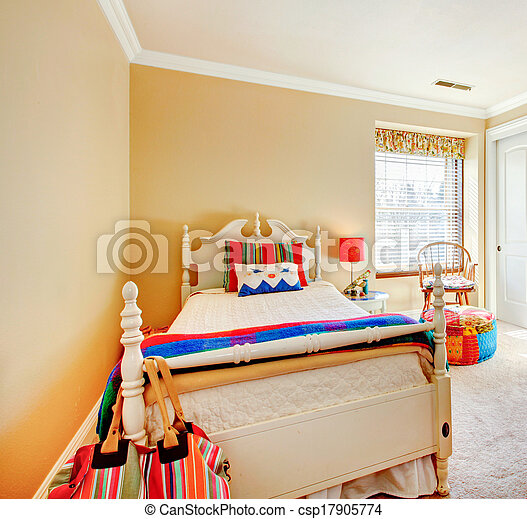 Cozy young adult bedroom - csp17905774