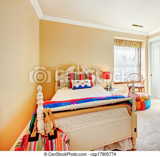 Cozy young adult bedroom - csp17905774