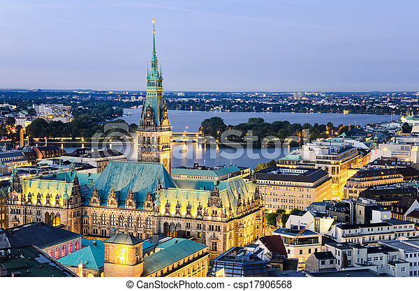 City Hall of Hamburg, Germany - csp17906568