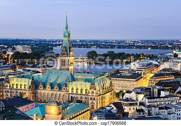 City Hall of Hamburg, Germany - csp17906568
