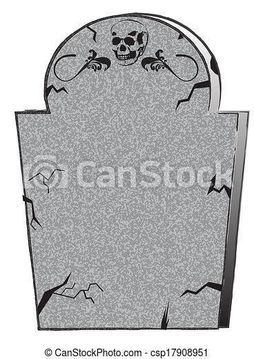 Vecteur clipart de pierre tombale csp17908951 recherchez - Pierre tombale halloween ...