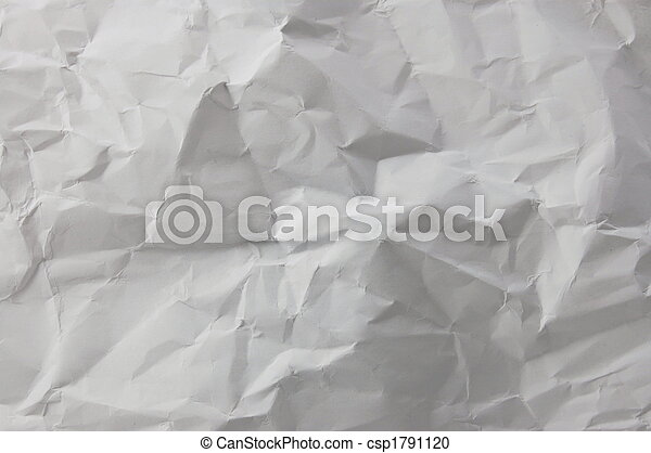 wrinkled and crushed paper - csp1791120