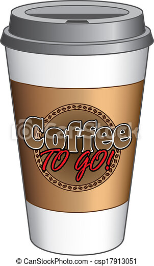 clipart vector of coffee to go cup illustration of a to go coffee cup with a csp17913051. Black Bedroom Furniture Sets. Home Design Ideas