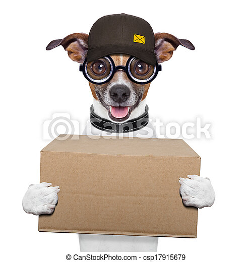 dog delivery post - csp17915679