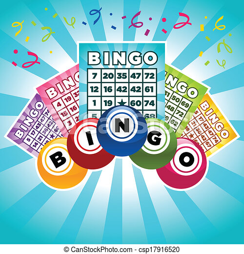 Vector Illustration of Bingo Illustration - Colorful illustration ...
