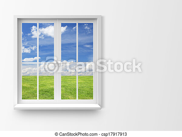 Modern residential window - csp17917913