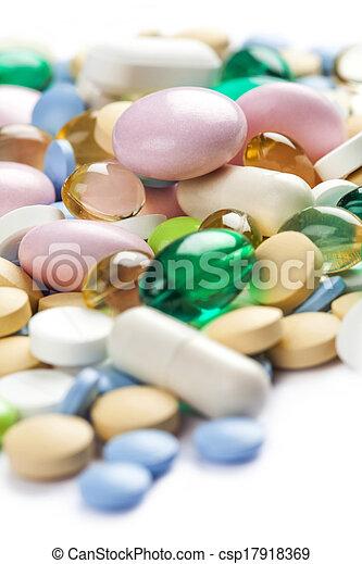 Color pharmaceutical pills - csp17918369