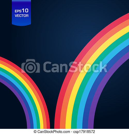 Bright rainbow illustration with space for your business message - csp17918572