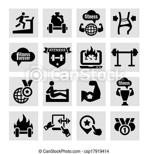 健身, 健康, 图标 - csp17919414
