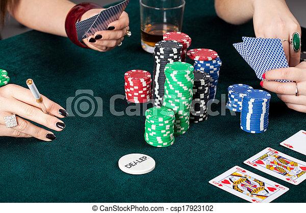 Gambling table closeup - csp17923102