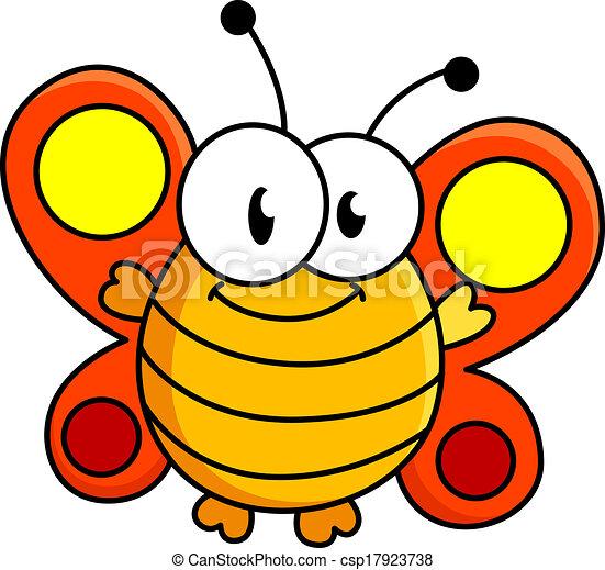 Vectors of Fat butterfly cartoon illustration - Funny fat ...