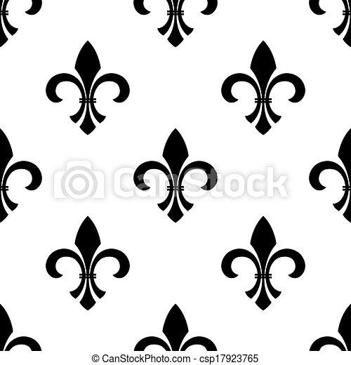 clip art vecteur de papier peint seamless fleur de lys seamless vecteur csp17923765. Black Bedroom Furniture Sets. Home Design Ideas