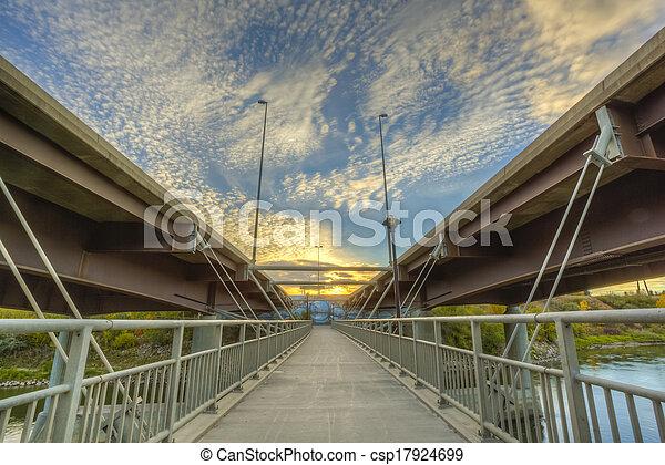Walkway between Bridges - csp17924699