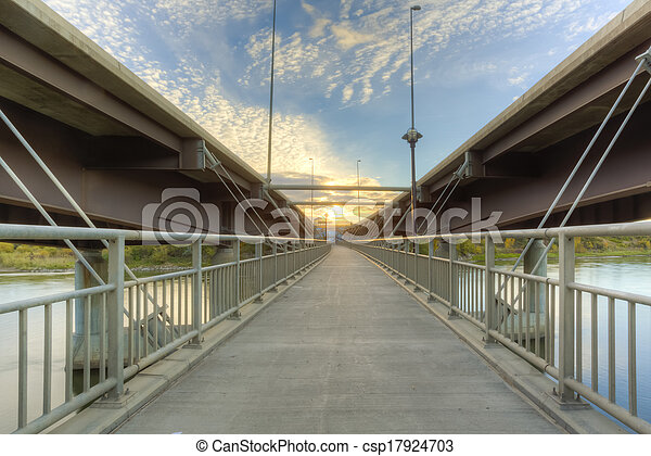 Walkway between Bridges - csp17924703