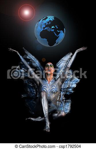 Deusa, Gaia, mãe, terra - csp1792504