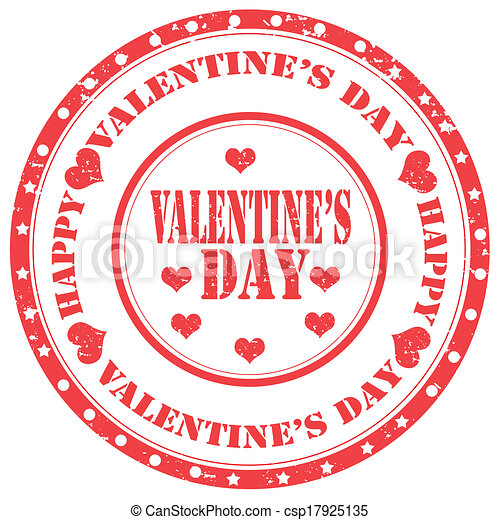 Valentine's Day-stamp - csp17925135