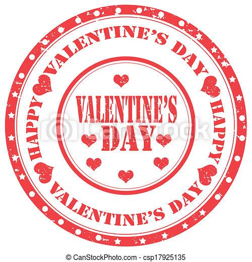 Valentine's Day-stamp - csp17925135